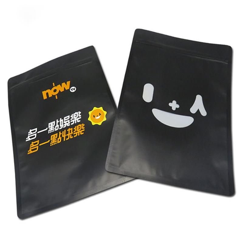 black heat seal packaging bags