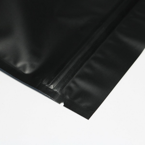 matte black pouch with notch