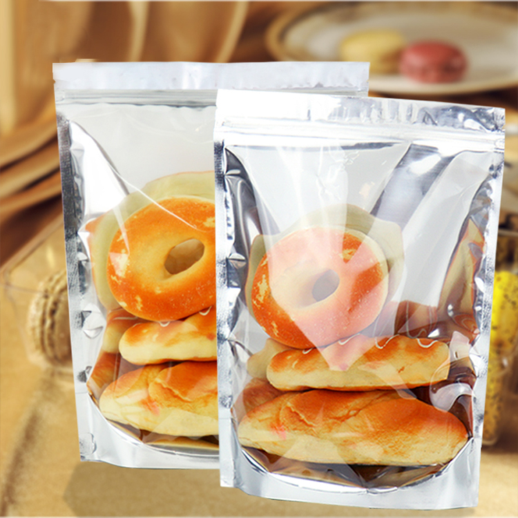 one side transparent stand up pouch for food