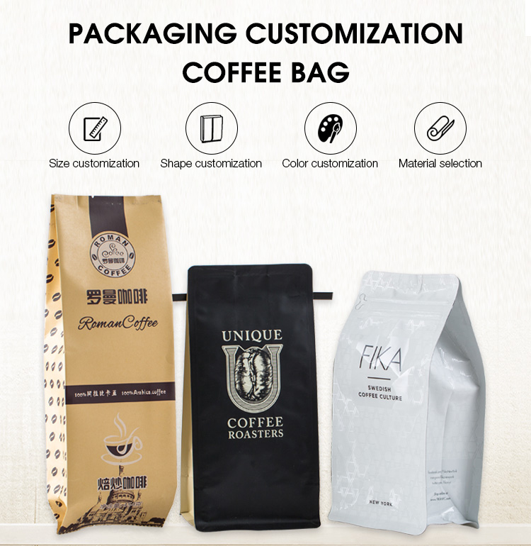 side gusset coffee bag with tin tie